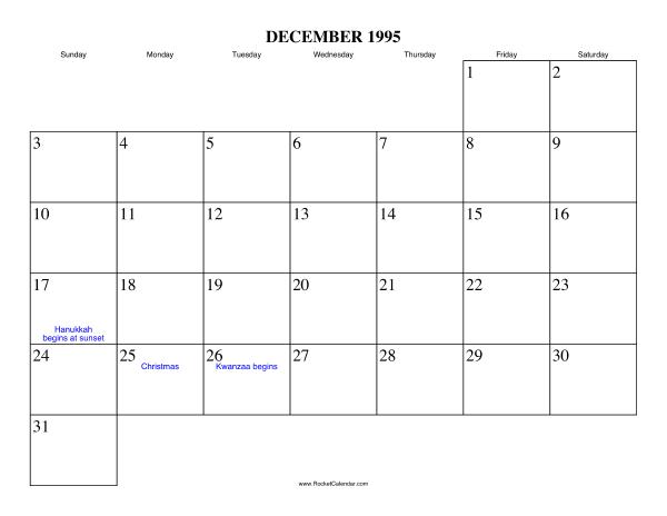 December 1995 Writing Calendar July Calendar 2016 Calendar