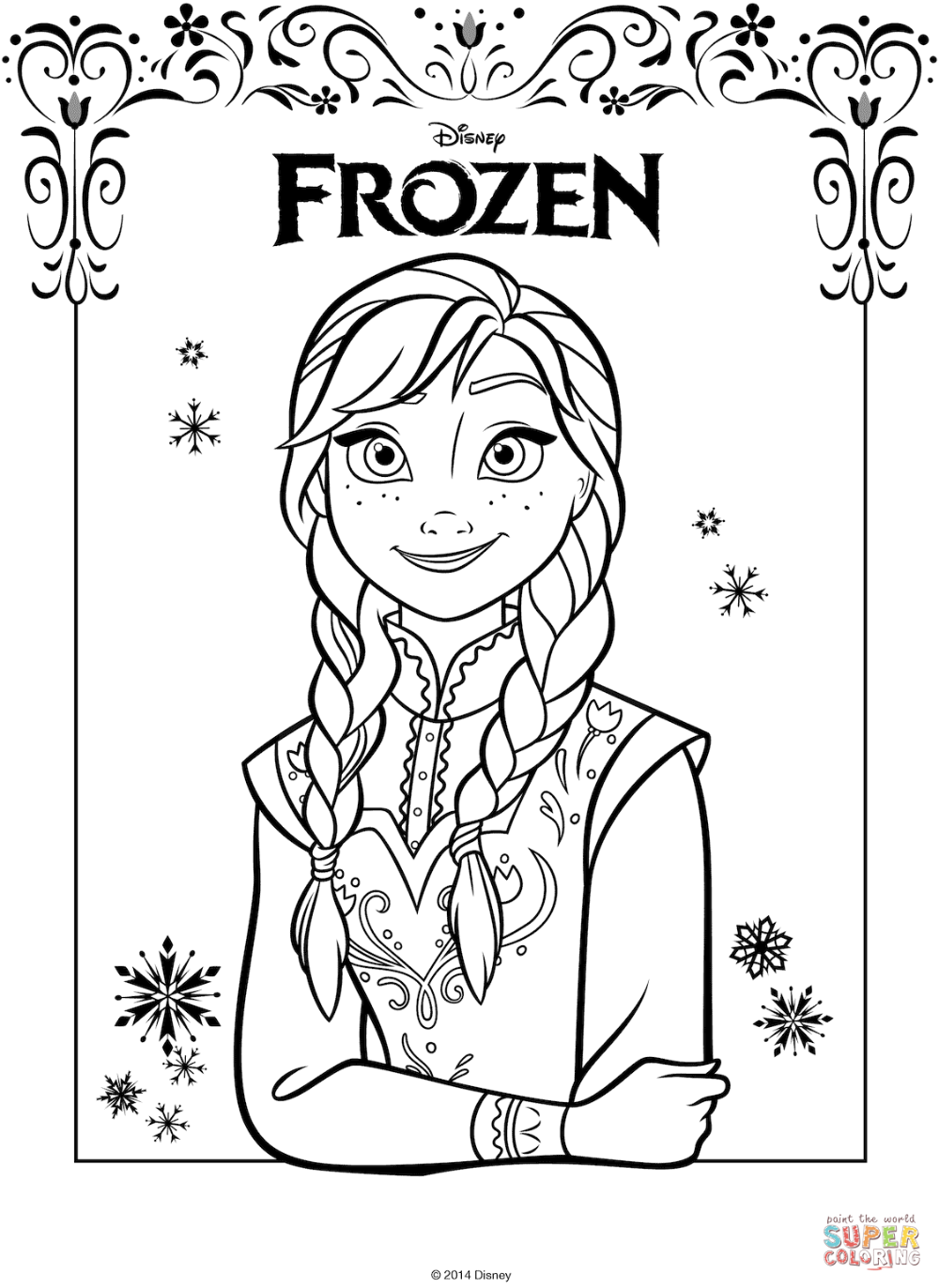 Anna From The Frozen Movie Coloring Page Free Printable Coloring Pages Frozen Coloring Pages Frozen Coloring Elsa Coloring Pages