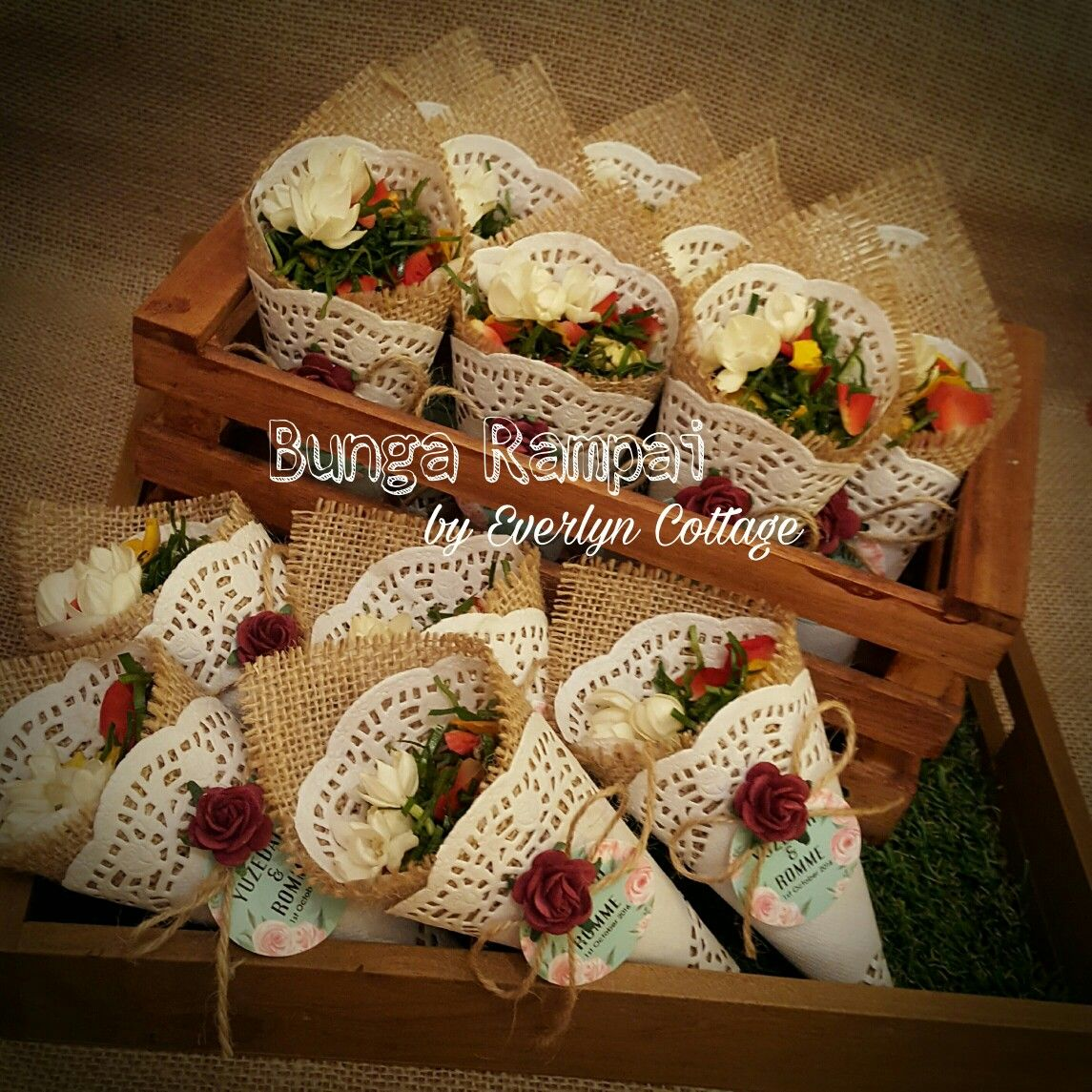 rustic bunga rampai cikolata susleme tortenspitze geschenke ve geschenke verpacken. Black Bedroom Furniture Sets. Home Design Ideas