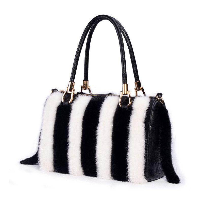88 New Arrival Women Real Mink Fur Handbag Luxry Bag Flap Bags Las Female For Lady