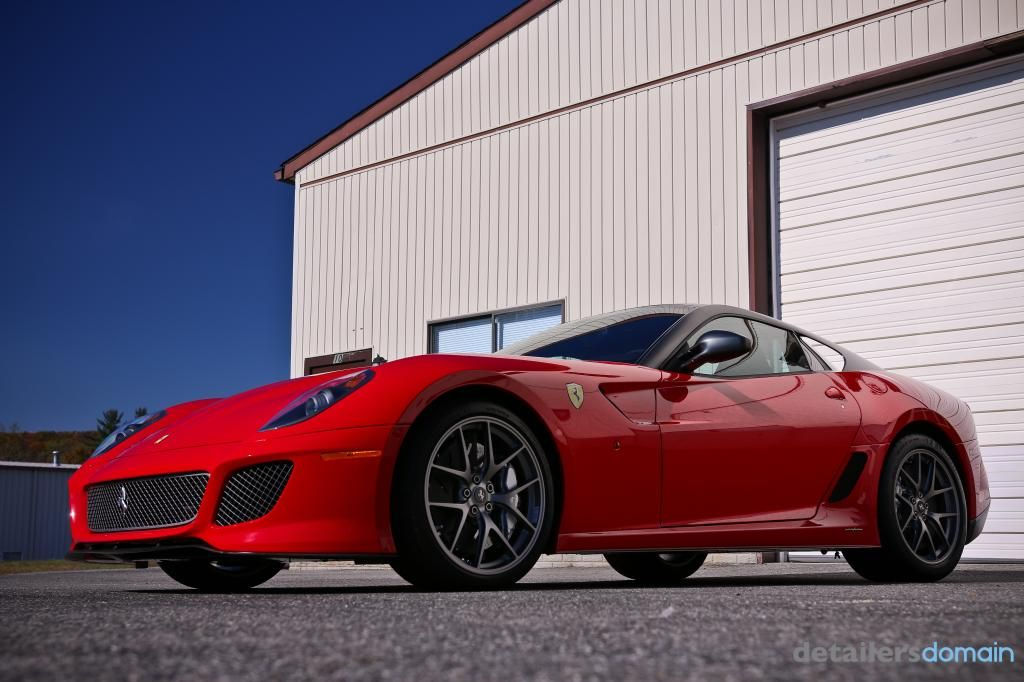 Ferrari 599 GTO in for a wash and wax - Sonax Brilliant Shine Detailer was used as a last step.