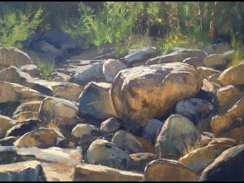 How To Paint Ocean And Rocks In Oil Or Acrylic You