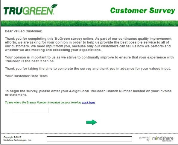 Trugreen Customer Satisfaction Survey WwwTrugreenSurveyCom