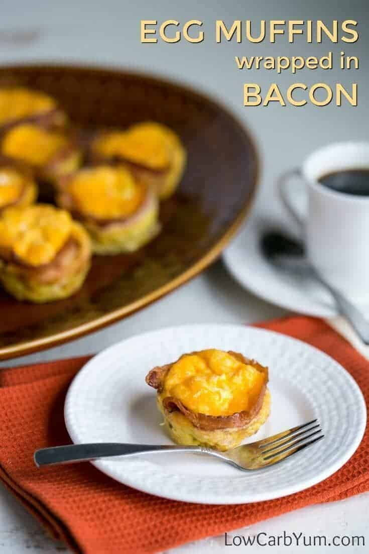 Bacon Egg Muffins (Keto, Low Carb, Gluten Free) | Low Carb Yum