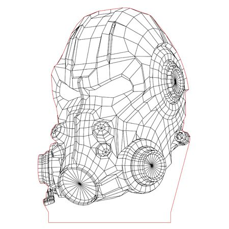 T 60b Helmet 3d Illusion Lamp Plan Vector File For Laser And Cnc 3bee Studio 3d Illusion Lamp 3d Illusions Illusions