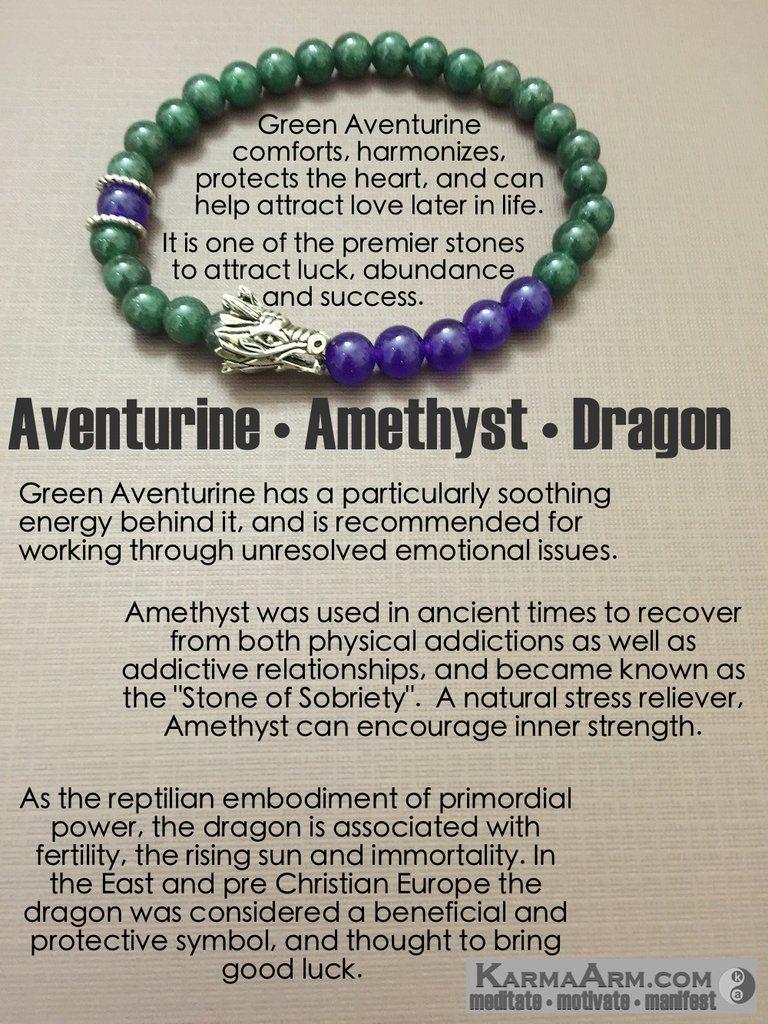 ATTRACT SUCCESS Aventurine  Amethyst  Yoga Chakra Bracelet  Pulseras