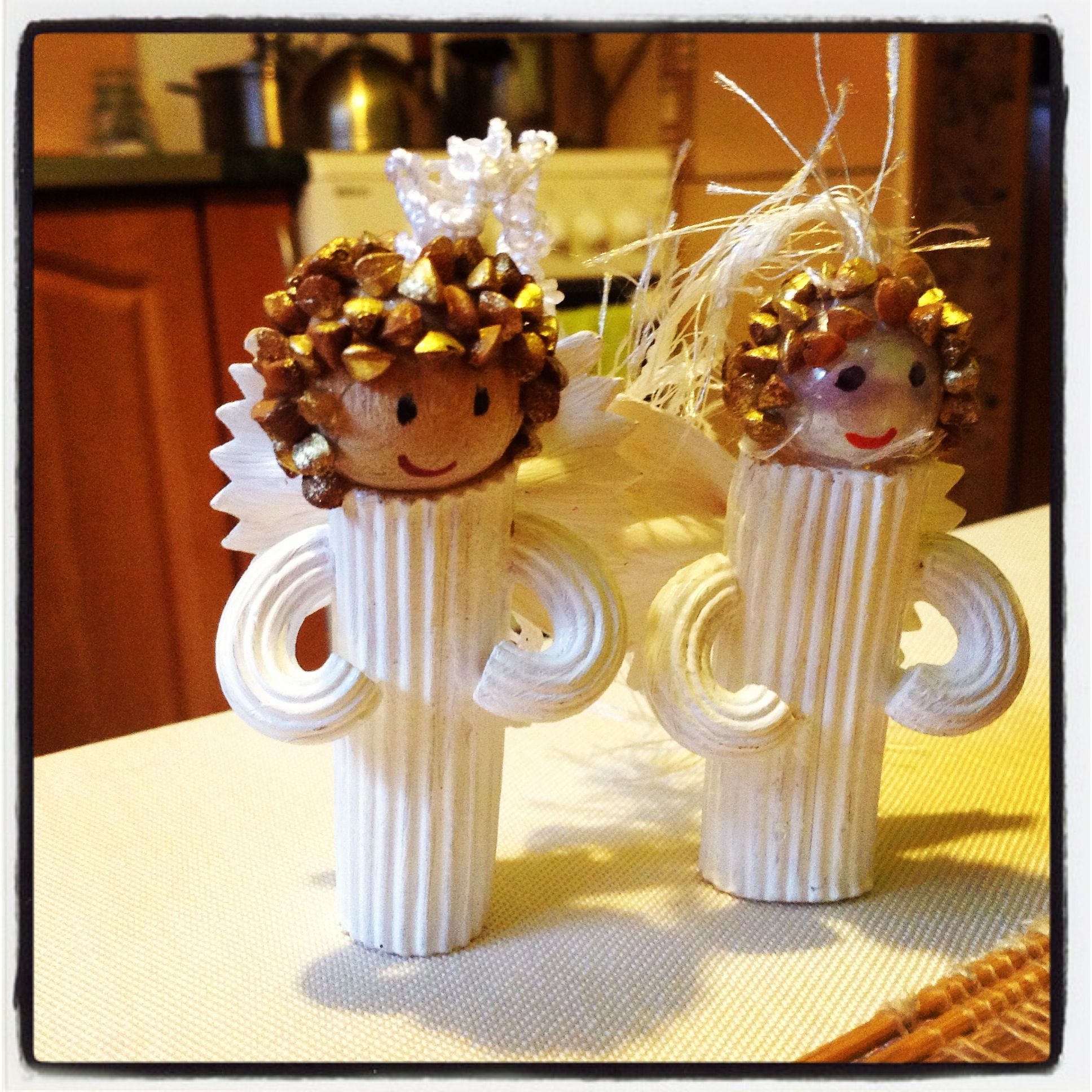 Christmas Ornaments Made From Pasta