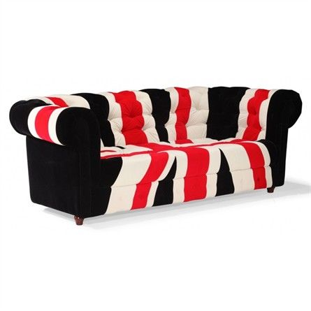The Union Jack Sofa Red White and Black from Zuo Modern Furniture will bring a contemporary look to any room in your home!