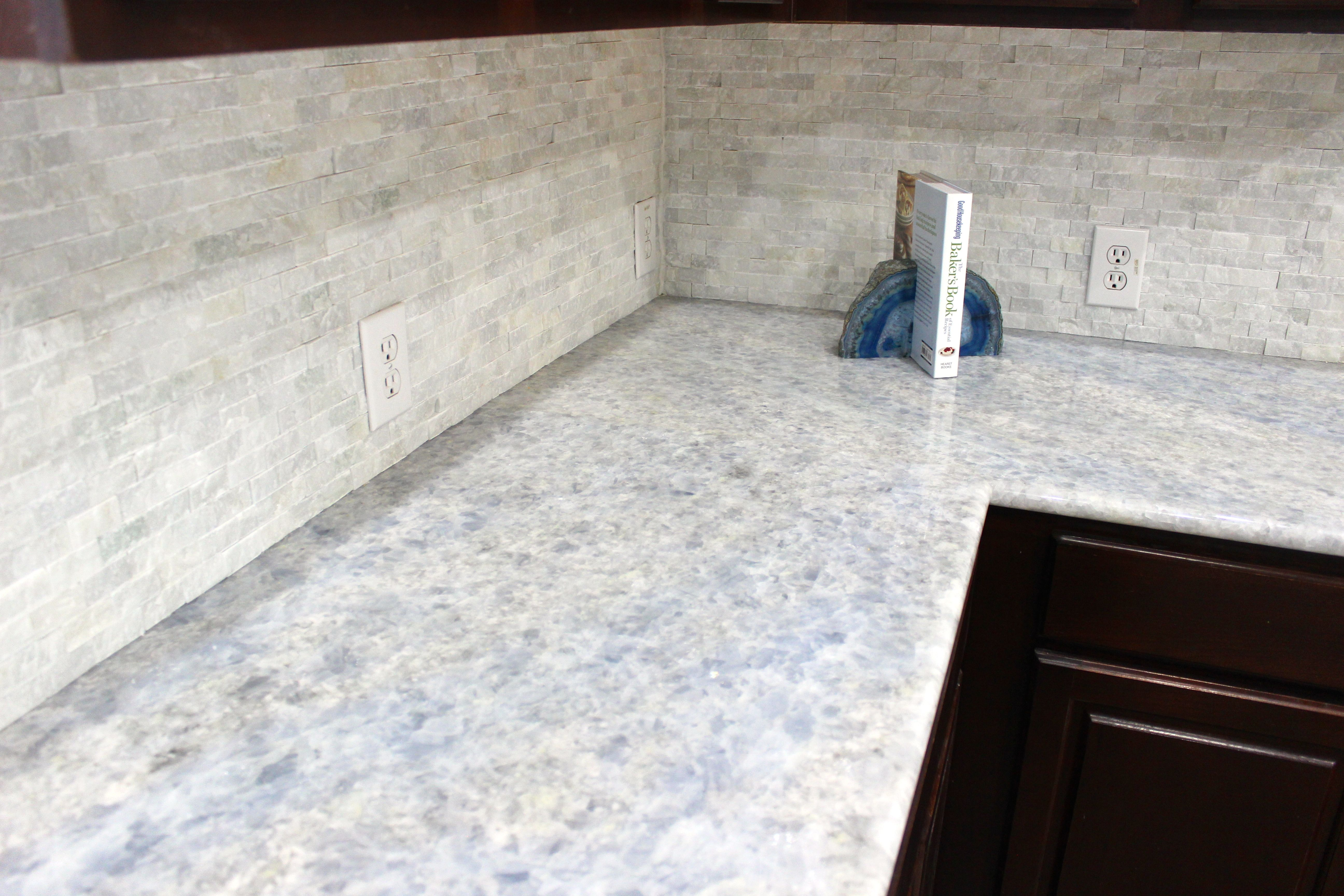 Look At This Recently Remodeled Kitchen Completed In Iceberg Blue