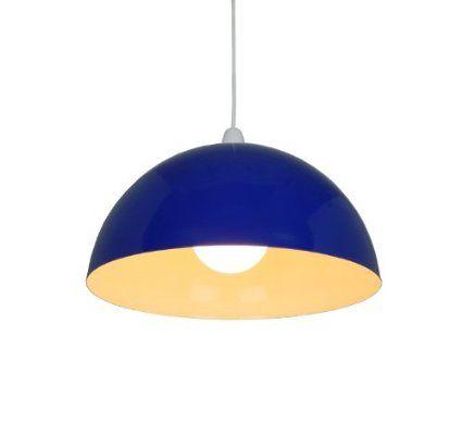 14  Navy Blue Metal Cylinder Dome Light Shade L& shade ceiling light Pendant Amazon  sc 1 st  Pinterest & 14