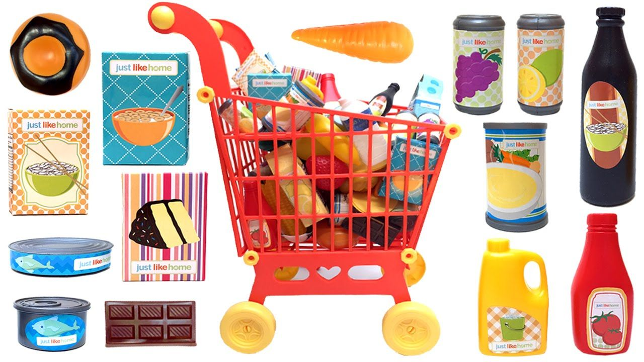 Just Like Home Toy Set : Just like home mega grocery playset supermarket game juego