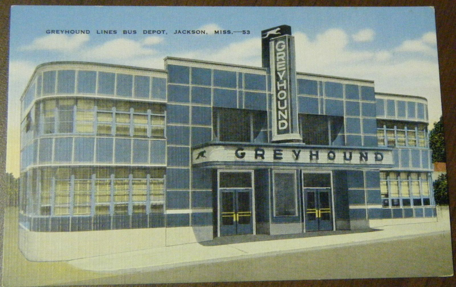 greyhound lines bus depot jackson ms art deco vintage. Black Bedroom Furniture Sets. Home Design Ideas