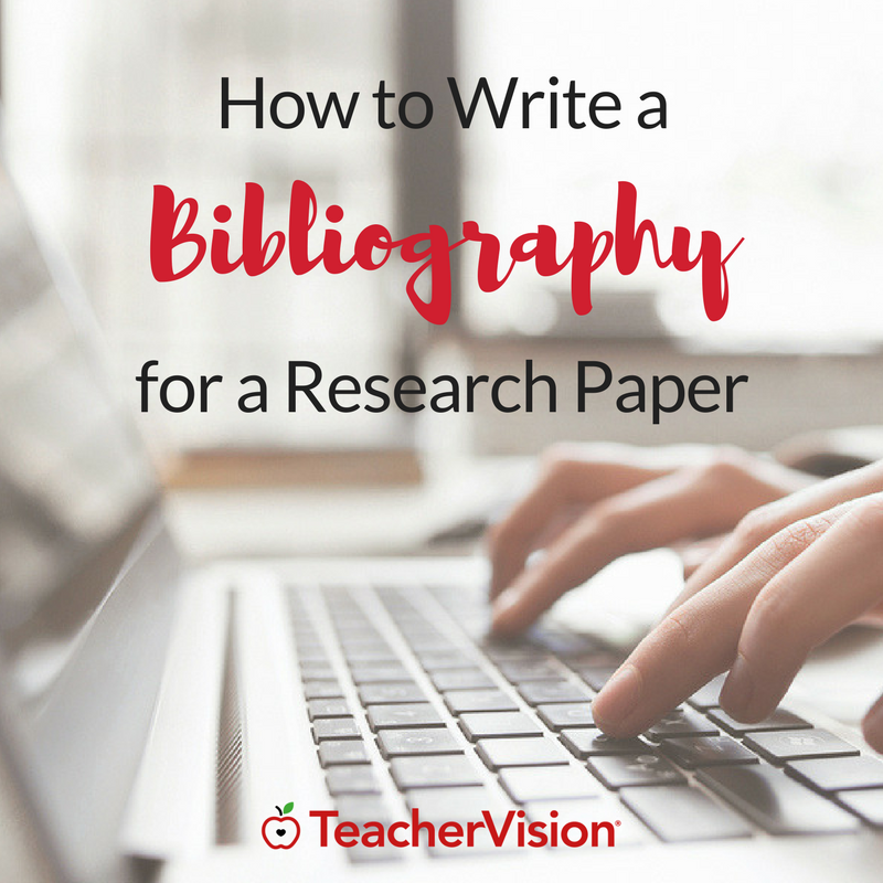 004 How to Write a Bibliography for a Research Paper Writing