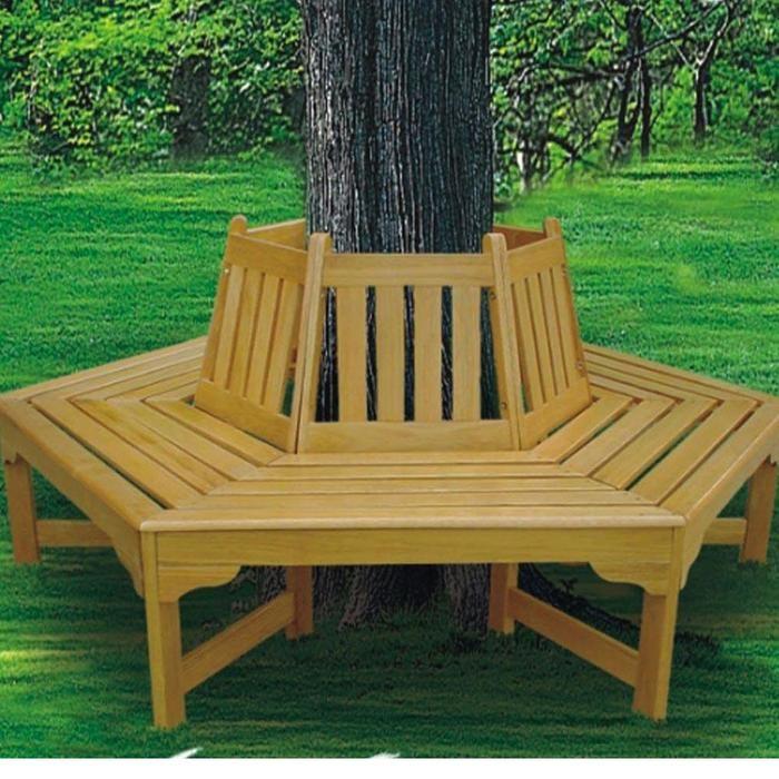 Tree Hugger Bench Bench Around Trees Backyard Backyard Landscaping