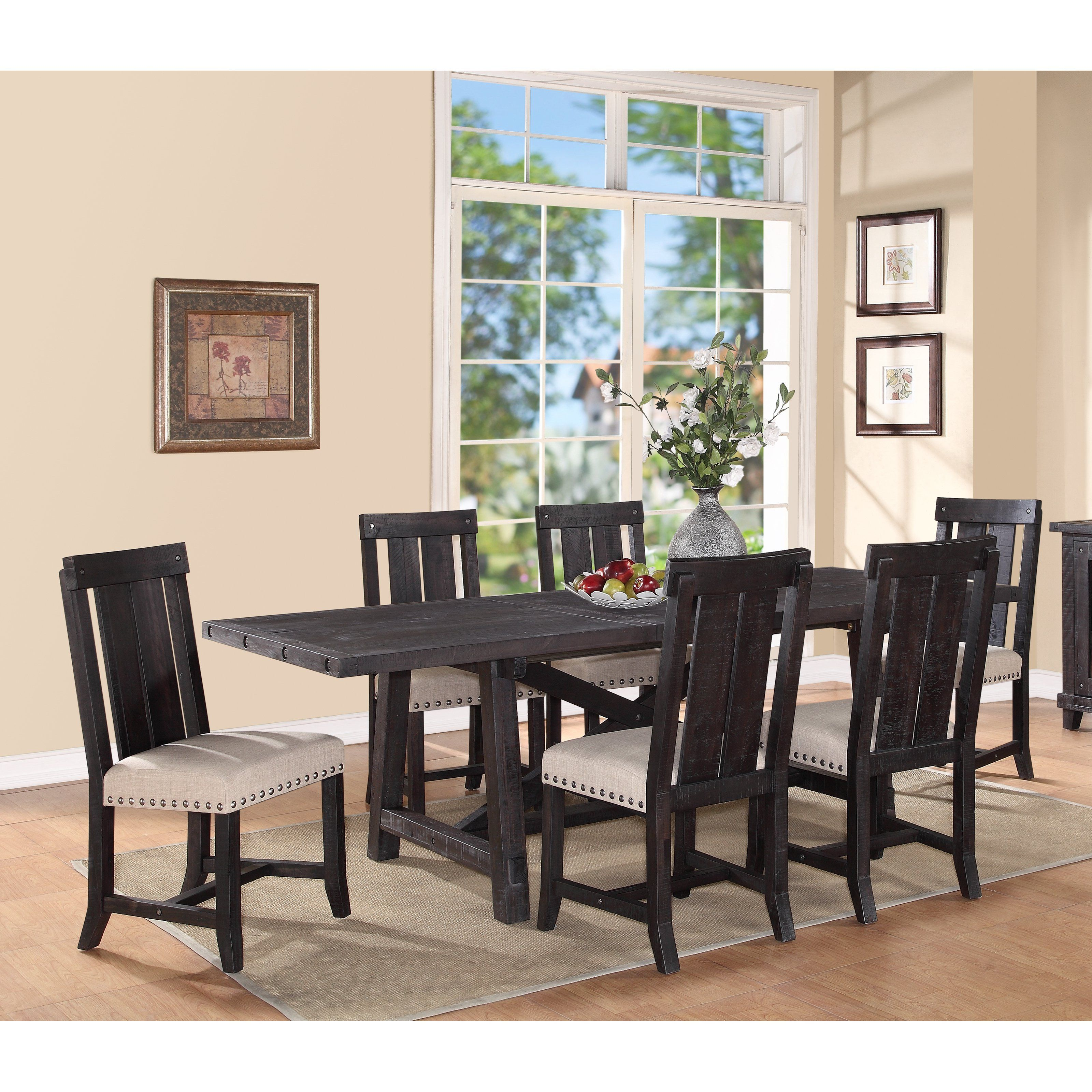 Modus Yosemite 7 Piece Rectangular Dining Table Set With Wood