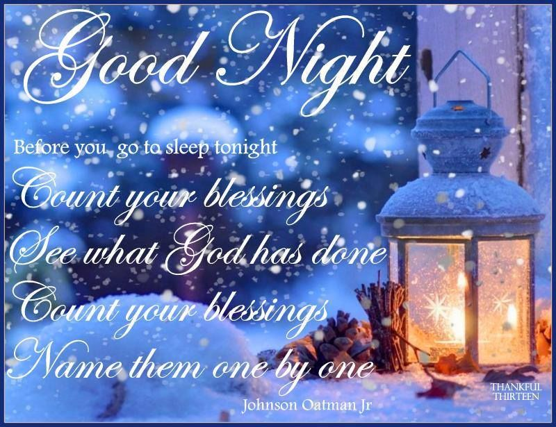 Good Night Blessings Images And Quotes: Wednesday Blessings For Winter