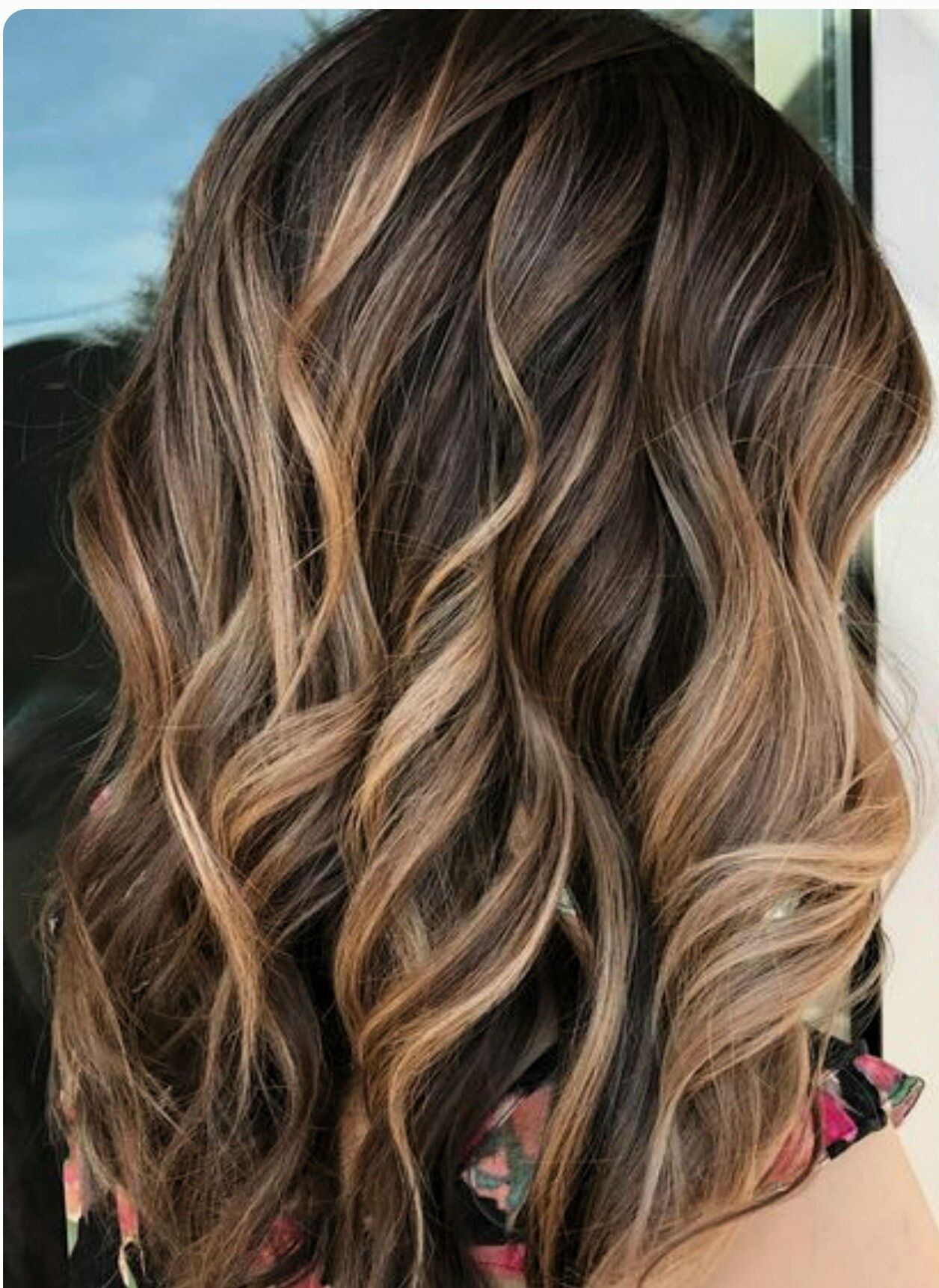 soft creamy balayage on brown hair cheveux pinterest. Black Bedroom Furniture Sets. Home Design Ideas