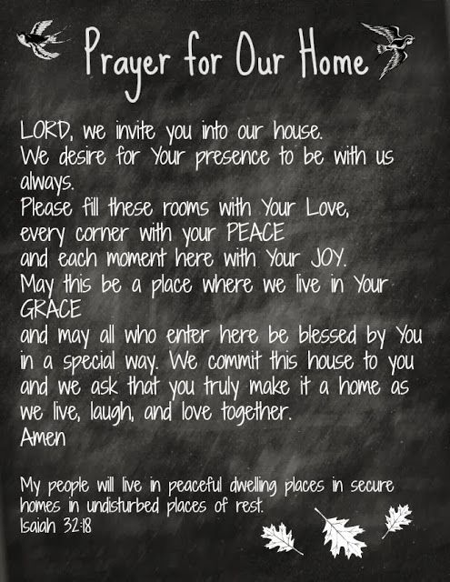 Prayer for Our Home