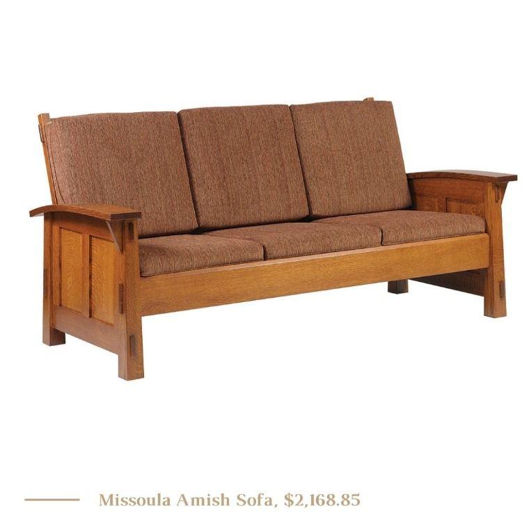 Missoula Amish Sofa In 2020 Minimalist Furniture Living Room Seating Minimalist Home