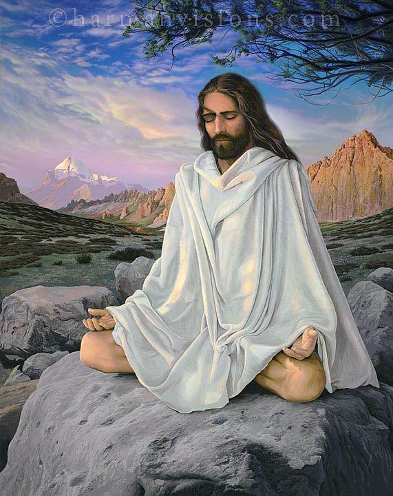 Jesus Meditating painting
