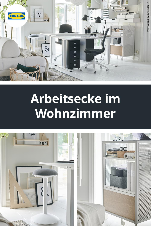 Arbeitsecke im Wohnzimmer einrichten in 16  Arbeitsecke