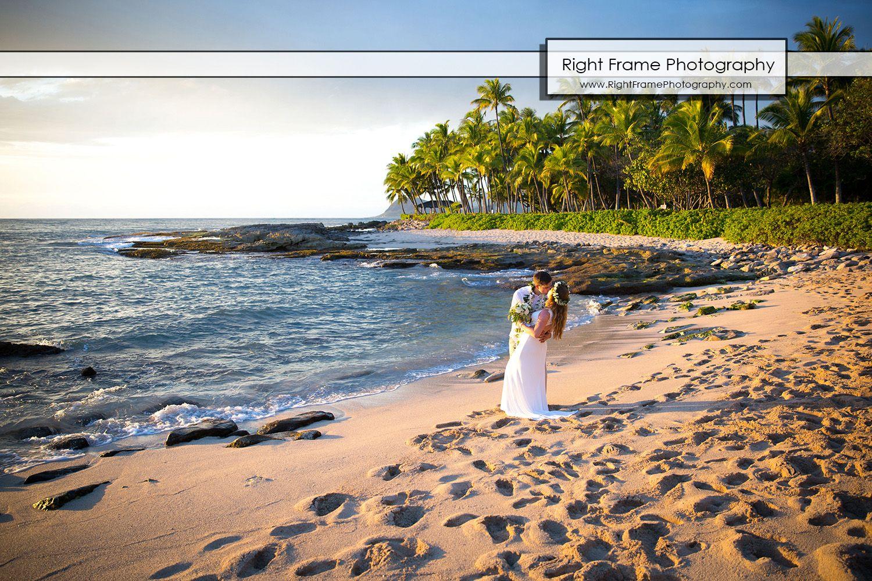 Rightframephotography Sunset Wedding At Secret Beach Oahu Hawaii Ko Olina Photos Pictures Weddings Idea Ideas