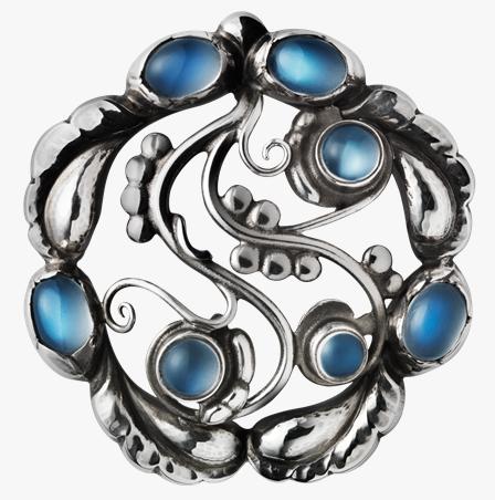Georg Jensen Moonlight blossom brooch