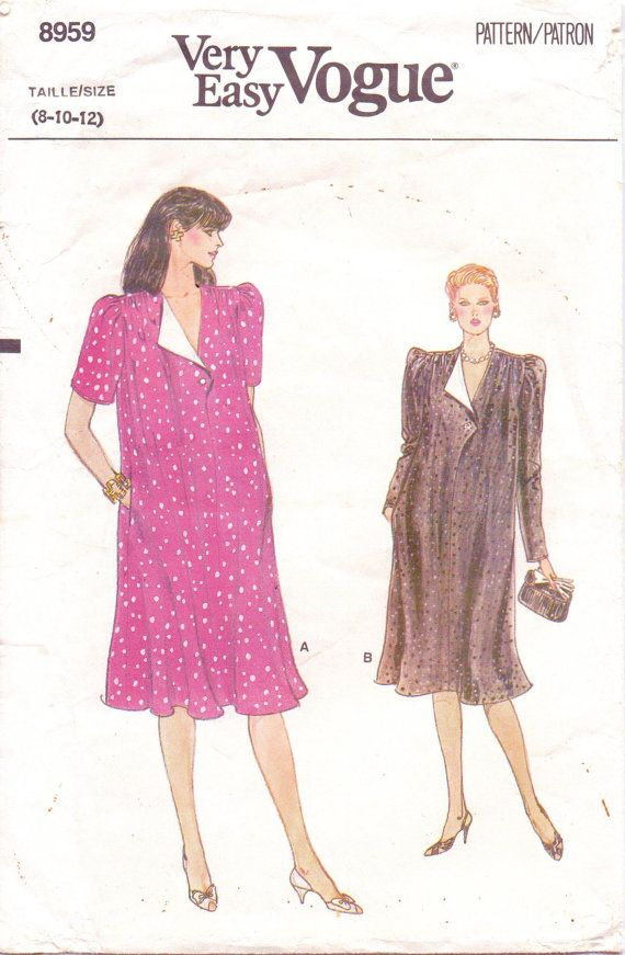 80s Very Easy Vogue Pattern 8959 Womens Maternity by CloesCloset ...