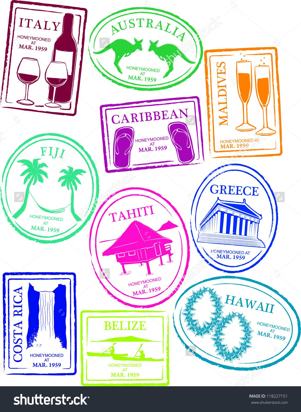 Countries Of The World Passport Stamps Collect Them All