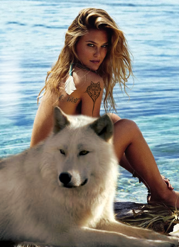 Picture of hairy wolf lady