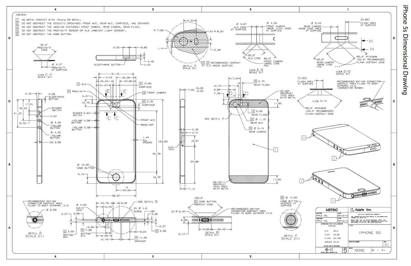 Official apple iphone 5s dimensional drawingg 16001034 official apple iphone 5s dimensional drawingg 1600 malvernweather Choice Image