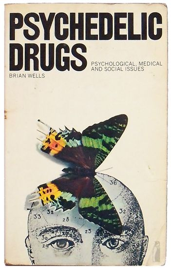 Poetry Book Front Cover : Psychedelic drugs retro book cover counter culture