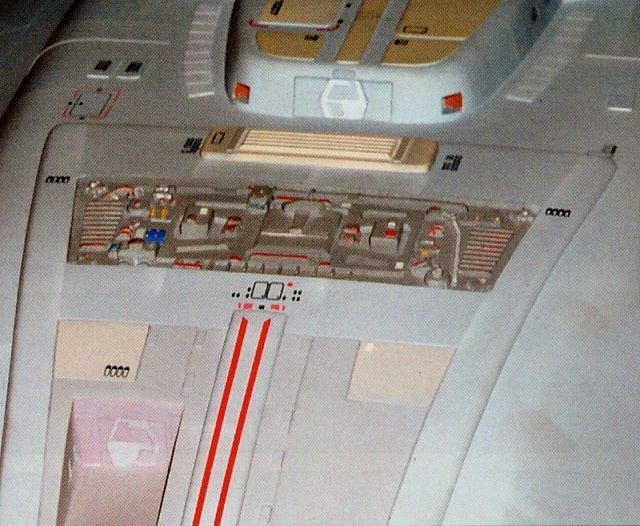 Detail of the Voyager studio model, sensor array aft of ...