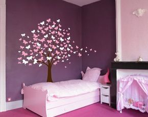 Grand Mur Arbre Bebe Chambre D Enfant Sticker Papillon Etsy Baby Nursery Decals Baby Nursery Wall Decals Wall Decals For Bedroom