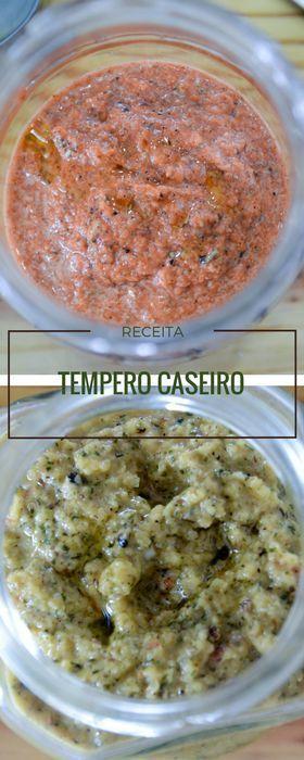 Receita de tempero caseiro batido para carnes e para frango - receita fácil