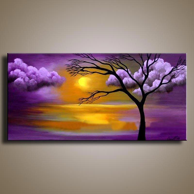 Handmade Oil Painting On Canvas Modern 100 Best Art Landscape Oil Painting Original Direc Modern Landscape Painting Scenery Paintings Oil Painting Landscape