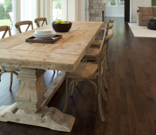 Dining Table Dark Wood Floor - Google Search