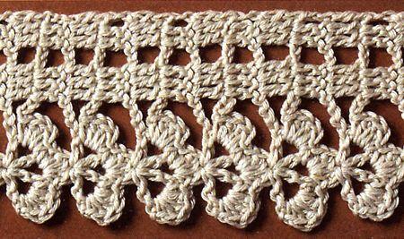 Schemi uncinetto filet a trifoglio per un set di for Bordi uncinetto per asciugamani