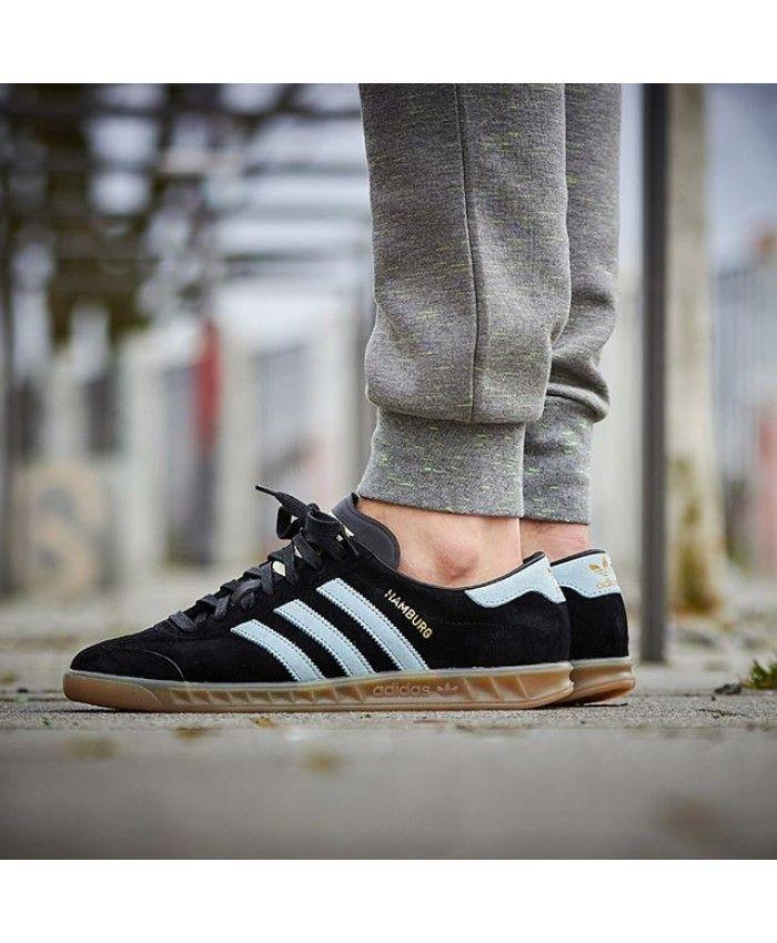 a410d69e9ae Mens Adidas Gazelle Core Black Blush Blue Vintage White Trainer Adidas  men s shoes