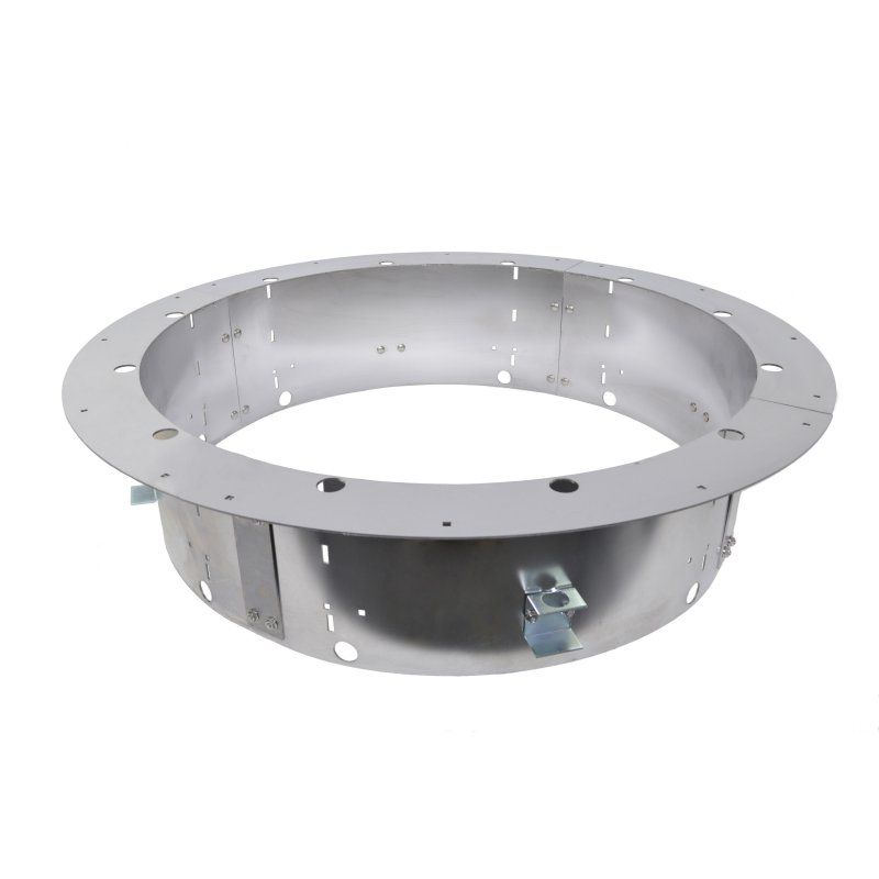 Firebuggz Round Plug N Play Firepit Ring Insert Stainless Steel