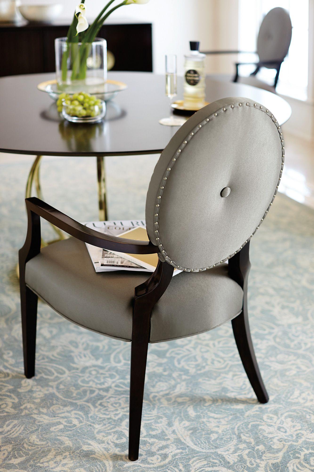Arm Chair Dining Room Custom Jet Set Round Dining Table Arm Chair  Bernhardt  Tessasweet Design Ideas
