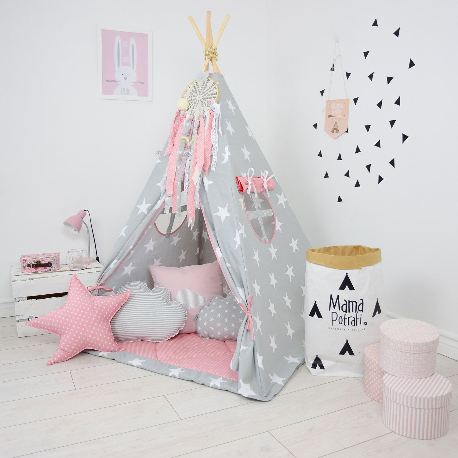 Teepee Set Kids Play Teepee Tent Tipi Kid Playhouse Wigwam Zelt Tente- In My Imagination  sc 1 st  Pinterest & Teepee Set Kids Play Teepee Tent Tipi Kid Playhouse Wigwam Zelt ...
