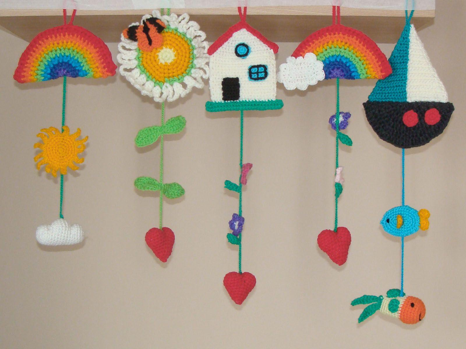 Colgantes   bebek odası süsleri   Pinterest   Colgantes, Tejido y ...
