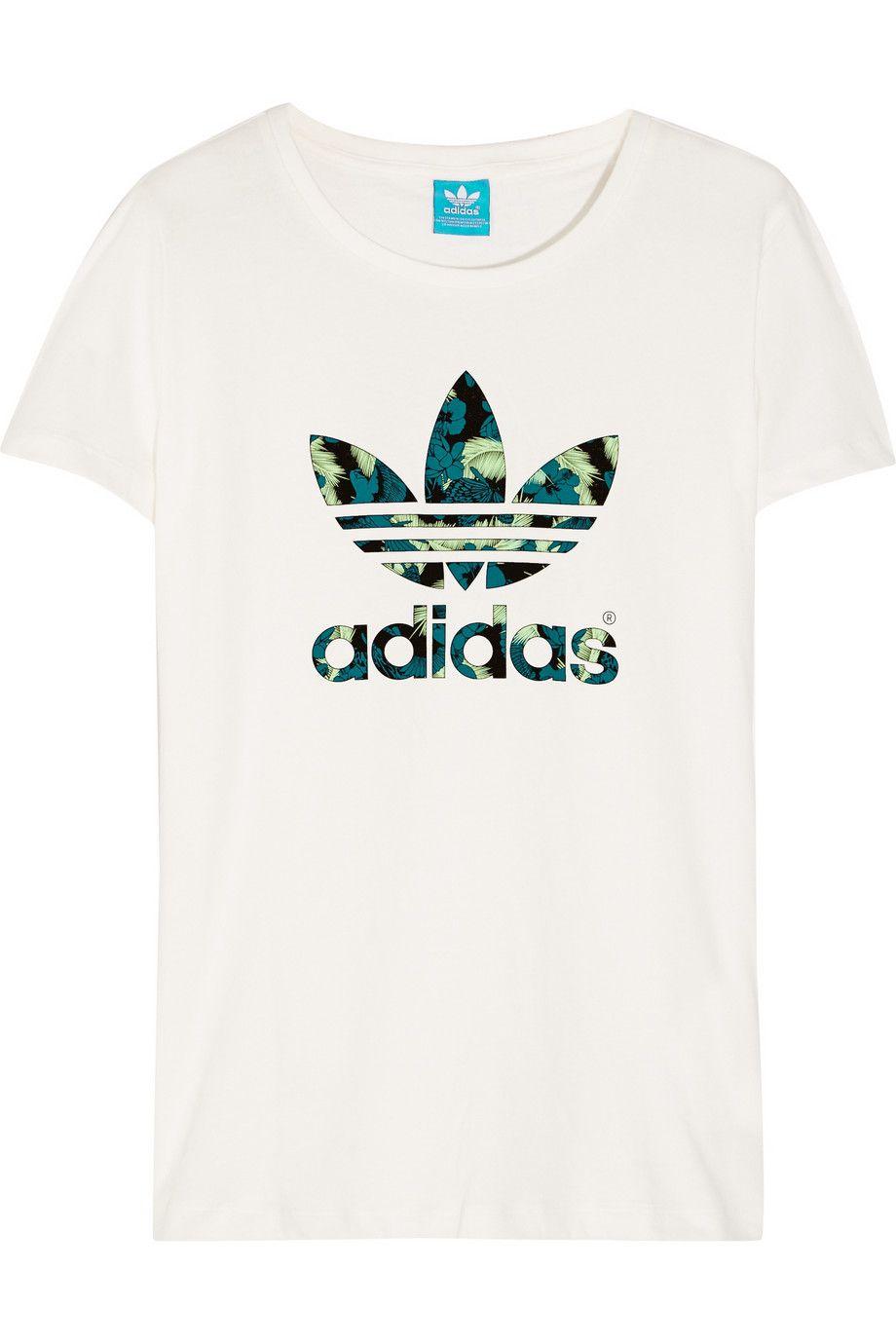 3124ecef79d adidas Originals | Trefoil organic cotton-jersey T-shirt | NET-A-PORTER.COM