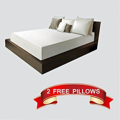 8 Inch King Size Medium Firm Memory Foam Mattress Bed With 2 Free