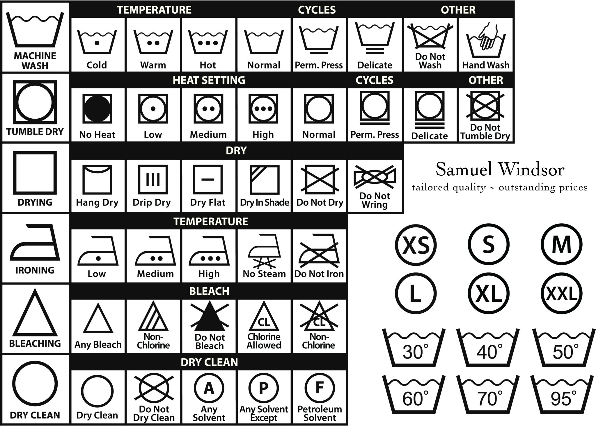 A penny saved laundry symbols if youre confused by the laundering symbol labels on your clothes print out a chart and keep it by the washing machine biocorpaavc