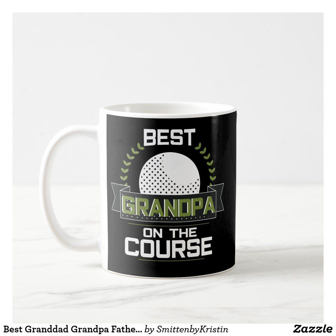 Best granddad grandpa fathers day coffee mug golf zazzle
