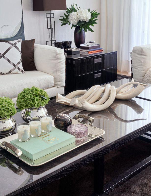 Tabletop arrangements for a contemporary interior: Lapa House Lisboa - Casa do Passadiço.