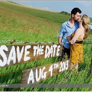 Cute save the date photo via f8 Photography