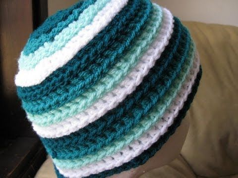 Crochet Hat Ripple Wave Beanie Tutorial Youtube Crochet